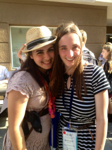Senior Rochelle Rouhani and junior Brittany Murphy attend Hugh O'Brian Youth Leadership Seminar June 7-9 at Chapman University. June 8 2013.
