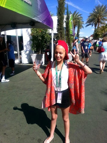 Noelle at the Indian Wells BNP Parihas Tennis Open