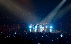 BTS perform at the Staples Center during their world tour in California