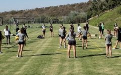The Lightning volleyball team practices outside as they adapt to the new athletics setup.