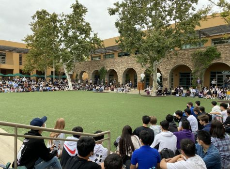 The Sage Hill community gathers in Town Square for the annual Convocation Ceremony on Aug. 23.